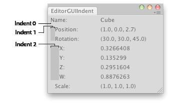 Unity - Scripting API: EditorGUI indentLevel