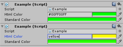 Unity - Scripting API: ColorUtility TryParseHtmlString