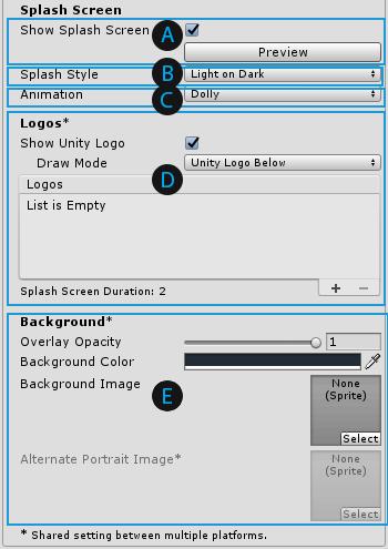 Splash Screen - Unity Manual
