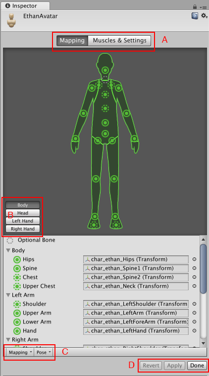 Avatar Mapping tab - Unity Manual