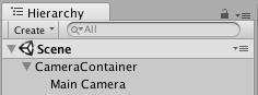 Colocando como hijo la Main Camera a un Gameobject