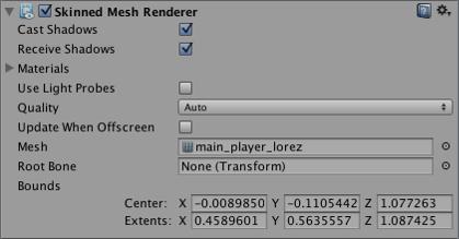 Unity - Manual: Skinned Mesh Renderer