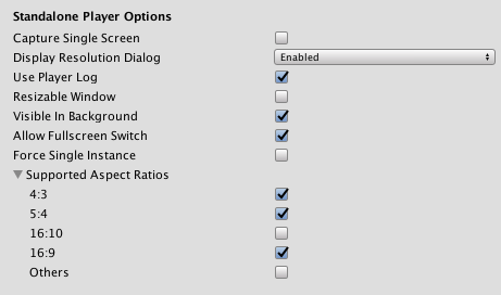 Player settings for Standalone platforms - Unity Manual