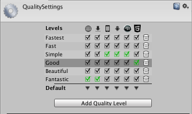 quality settings unity マニュアル