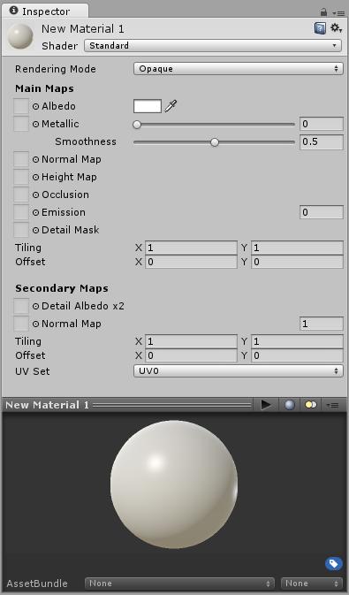 유니티 - 매뉴얼: Creating and Using Materials