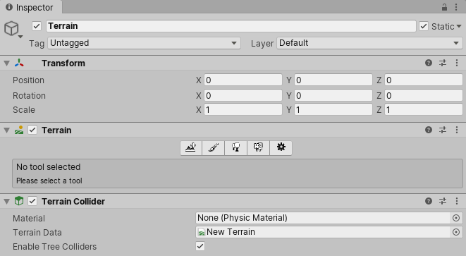 Unity - Manual: Creating and editing Terrains