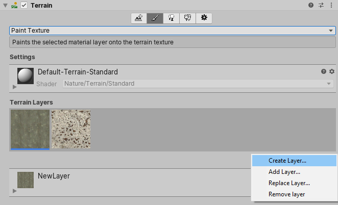 Unity - Manual: Terrain Layers