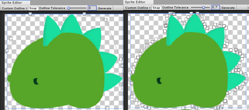 Unity - Manual: Sprite Editor: Custom Outline