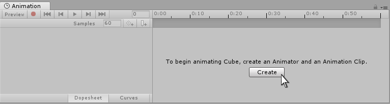 Fig 1: Create a new Animation Clip