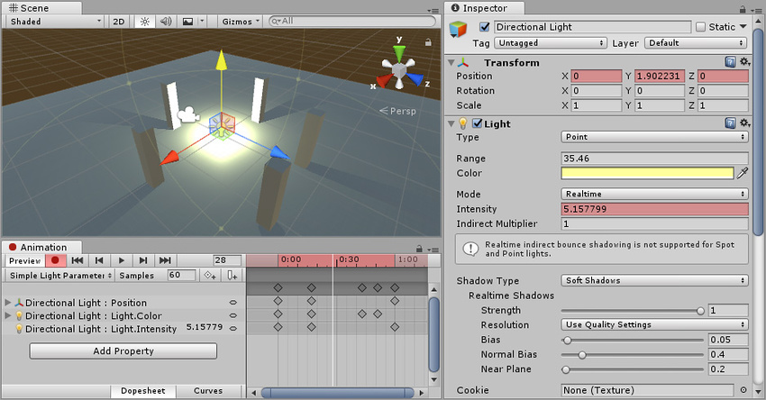 Unity - Manual: Animating a GameObject