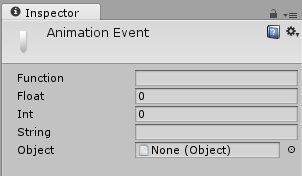 The Animation Event Inspector Window