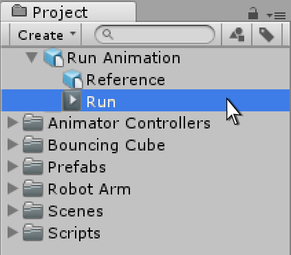 An imported FBX 3D Asset containing an animation titled Run
