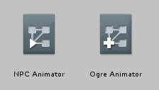 Comparing icons: The Animator Controller and the Animator Override Controller assets side-by-side
