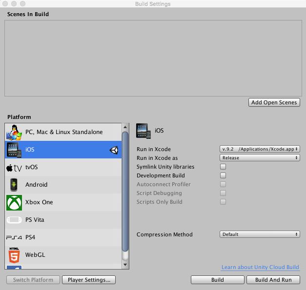 Unity - Manual: App thinning