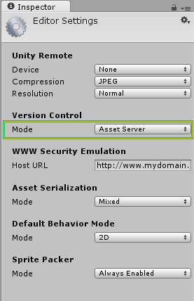 The Version Control Settings