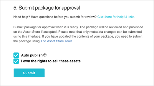 You have to own the rights to these Assets in order to submit your package to the Asset Store