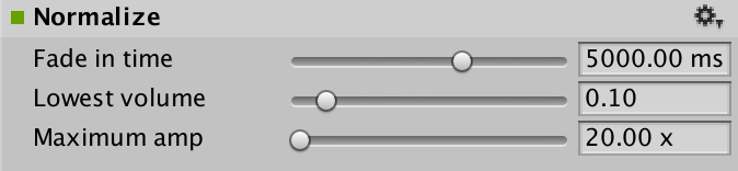 Unity - Manual: Audio Normalize Effect