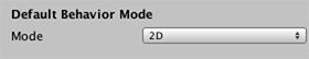 Use the Default Behavior Mode setting in the Editor settings to set the Project to 2D or 3D