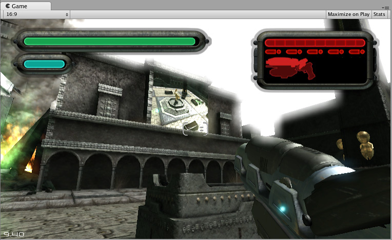A Render Texture used to create a live arena-cam