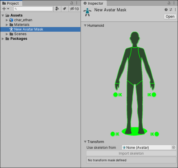 Unity - Manual: Importing humanoid animations