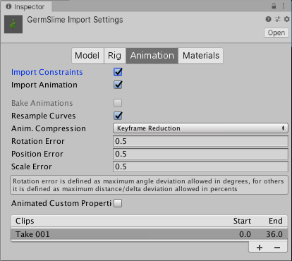 Import Settings with Import Constraints checked