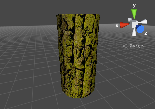 Cylinder with tree bark