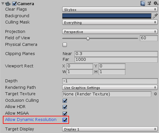 Unity - Manual: Dynamic resolution
