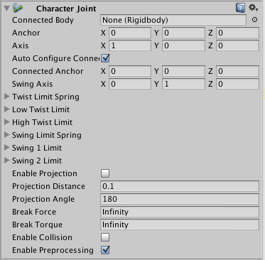 Unity - Manual: Character Joint
