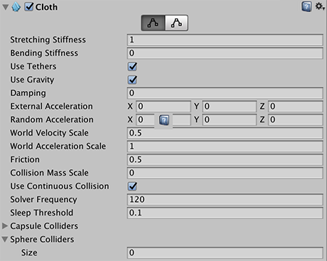 Unity Manual Cloth