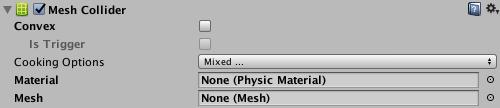 Unity - Manual: Mesh Collider
