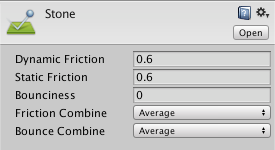 Unity - Manual: Physic Material