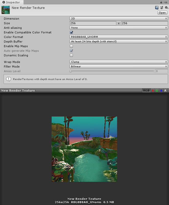Unity - Manual: Render Texture