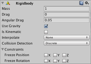 Unity - Manual: Rigidbody