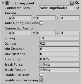 Unity - Manual: Spring Joint