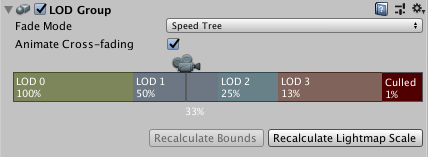 Speed Tree Fade Mode for a SpeedTree Model