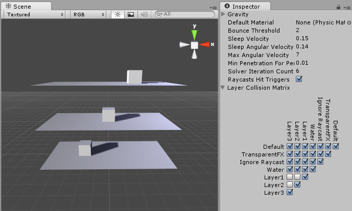 Unity - Manual: Layer-based collision detection
