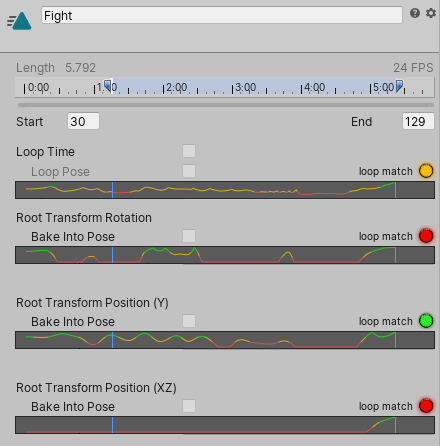 Unity - Manual: Loop optimization on Animation clips