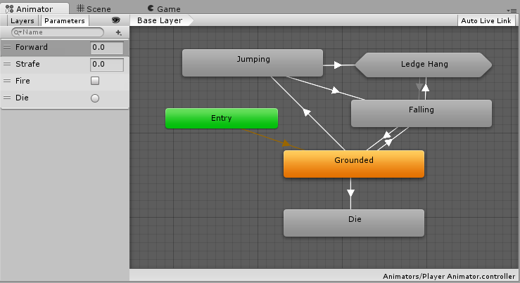 Unity - Manual: Creating an AnimatorController