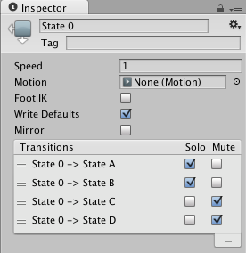 Unity - Manual: Solo and Mute functionality