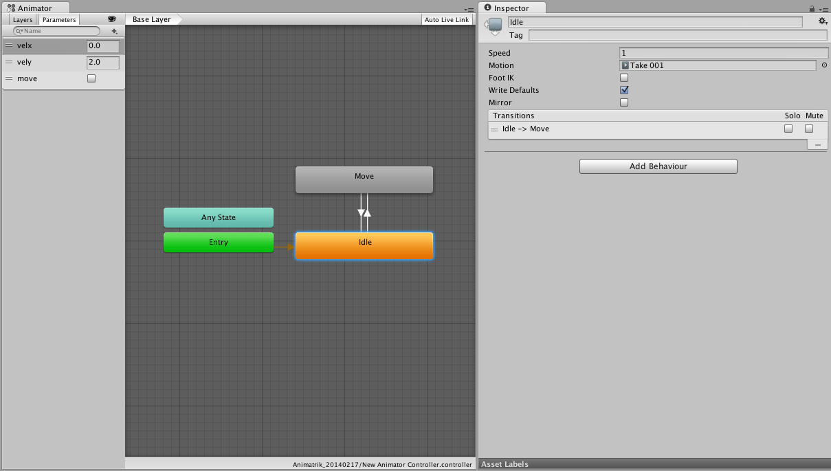 Unity - Manual: Coupling Animation and Navigation