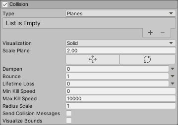 Unity - Manual: Collision module