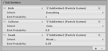 Unity - Manual: Sub Emitters module