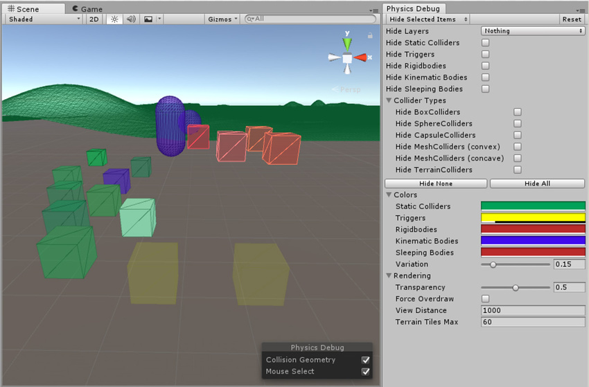 Unity - Manual: Physics Debug Visualization