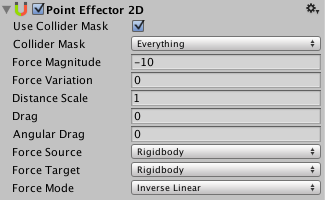 Unity - Manual: Point Effector 2D