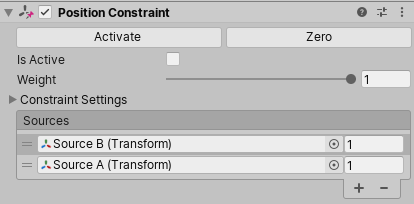 Unity - Manual: Position Constraints