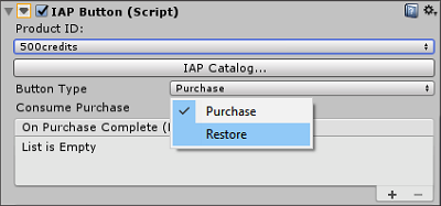 Modifying an IAP Button to restore purchases
