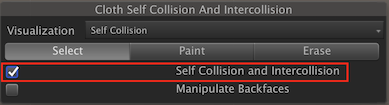 Self Collision and Intercollision tick box