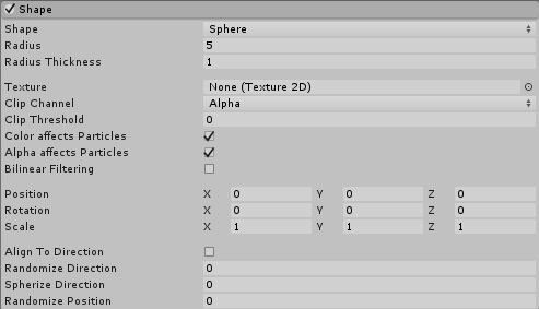 Unity - Manual: Shape Module