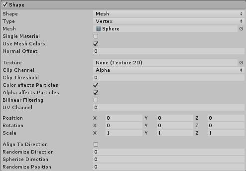 Unity - Manual: Shape Module