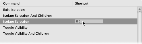Unity - Manual: Shortcuts Manager